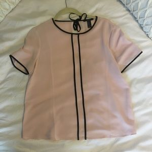 Pink and black blouse